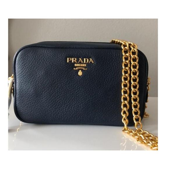 df6ff464626a88 Prada Bags | New Navy Leather Cross Body Camera Bag | Poshmark